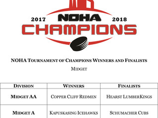 NOHA Tournament of Champions - March 16-18, 2018