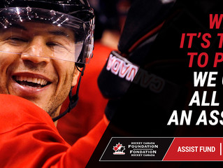 HOCKEY CANADA FOUNDATION ASSIST FUND TO PROVIDE $1 MILLION TO HELP YOUNG CANADIANS RETURN TO HOCKEY