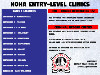 NOHA Entry-Level Officials Clinics