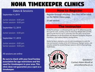 2019 Timekeeper Clinics