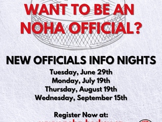 NOHA Officiating Information Sessions for New Officials