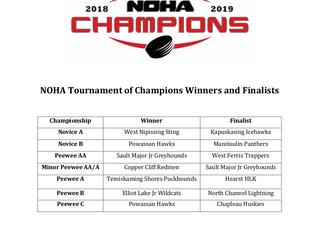 Congratulations Novice & Peewee NOHA TOC Champions & Finalists!