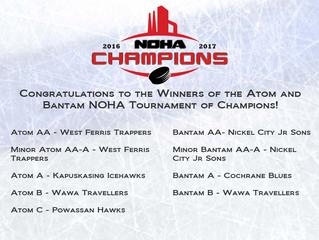Atom & Bantam NOHA TOC Winners!