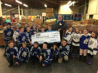 Sudbury Minor Atom AA Wolves Great Contribution to Food Bank