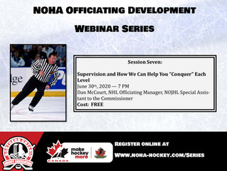 NOHA Officiating Development Web Series - Dan McCourt
