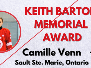 Keith Barton Memorial Award - Camille Venn, Sault Ste. Marie