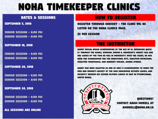 NOHA Timekeepers Clinics