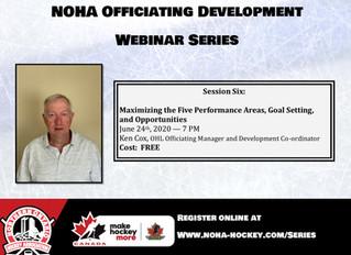 NOHA Officiating Development Webinar Series - Ken Cox
