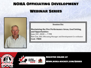 NOHA Officiating Development Webinar Series - Ken Cox
