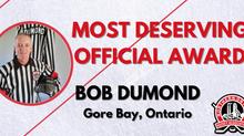 Most Deserving Official Award - Bob Dumond, Gore Bay