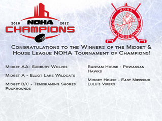 Congratulations Midget TOC and Bantam & Midget House League TOC Winners!
