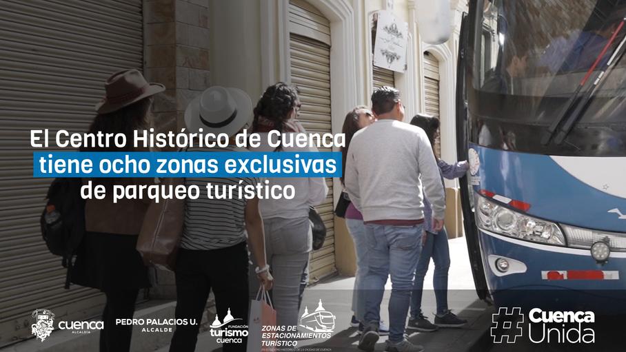 Centro Histórico de Cuenca tiene ocho zonas exclusivas de parqueo turístico