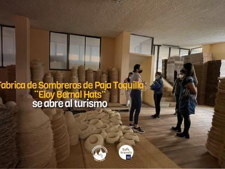 "La fábrica de Sombreros de Paja Toquilla ""Eloy Bernal Hats"" se abre al turismo"