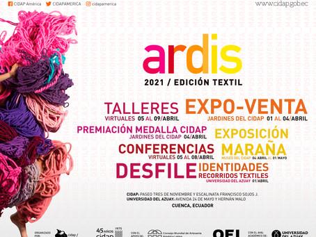 """Del 1 al 9 de abril, Cuenca vivirá el """"Encuentro Internacional de Artesanías y Diseño – ARDIS 2021"""