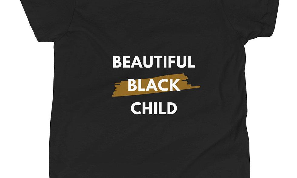"""Beautiful Black Child"" (Big Kids) Short-Sleeve T-Shirt"