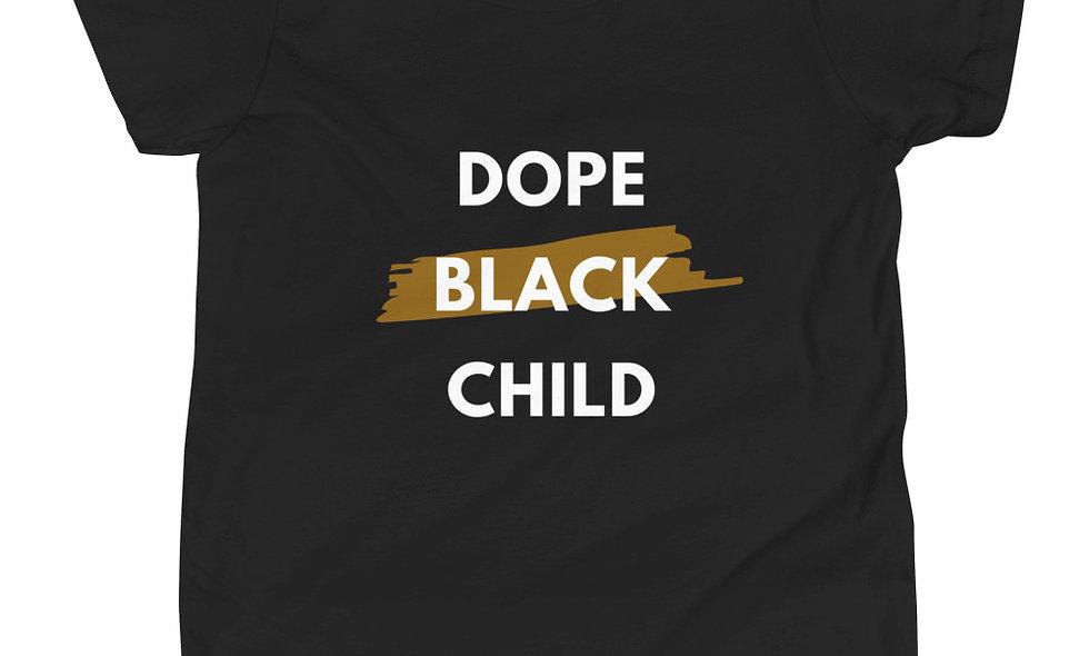 """Dope Black Child"" (Big Kids) Short-Sleeve T-Shirt copy"