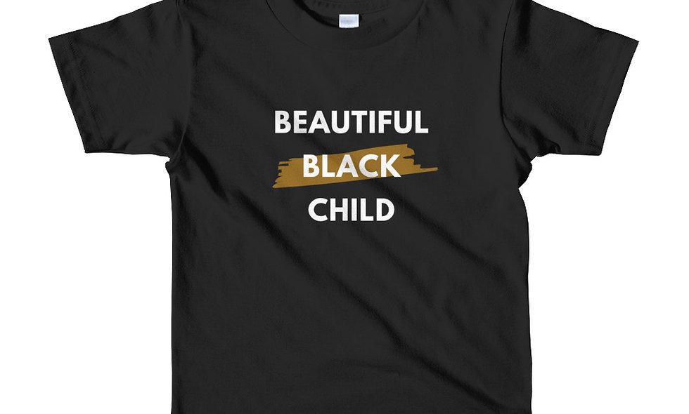"""Beautiful Black Child"" (Kids) Short-Sleeve T-Shirt"