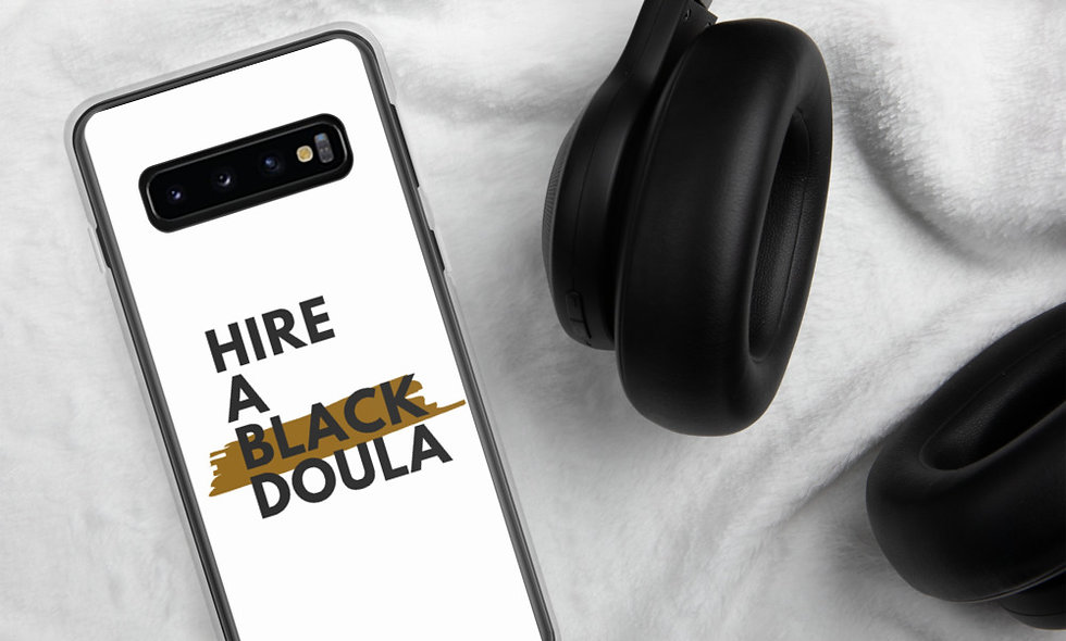 """Hire A Black Doula"" Samsung Case (White)"