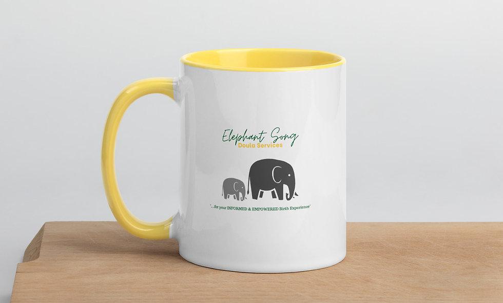 """""""Elephant Song Doulas"""" Mug w/Color Inside"""