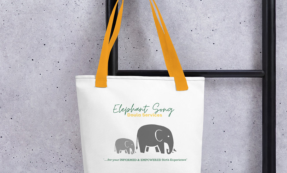 """""""Elephant Song Doulas"""" Tote Bag"""
