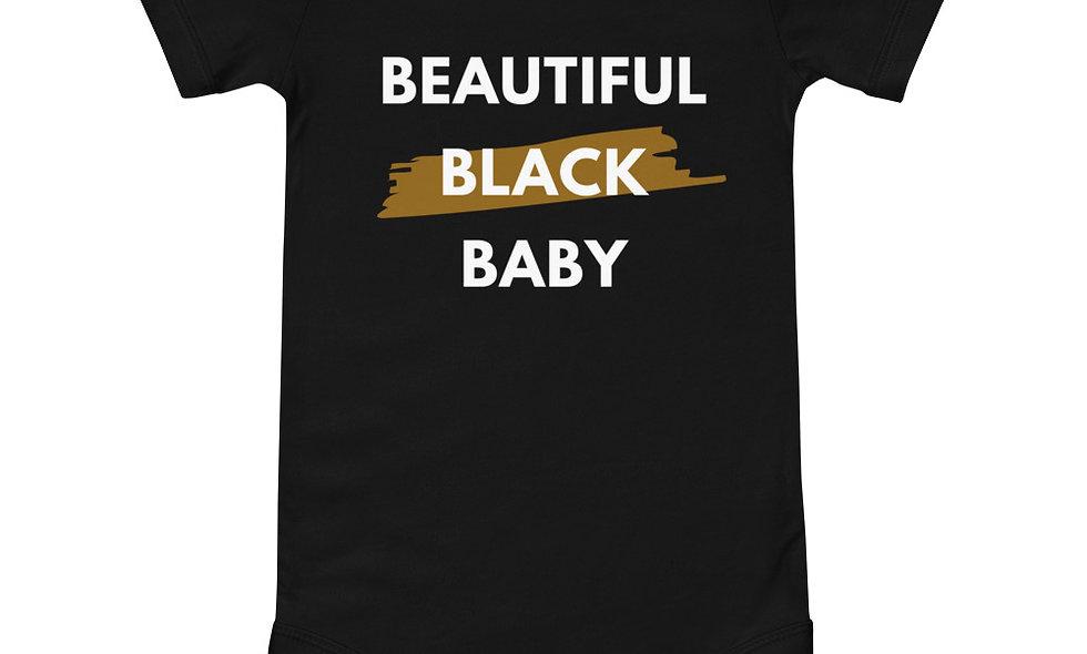 """""""Beautiful Black Baby"""" Short-Sleeve Onesie"""