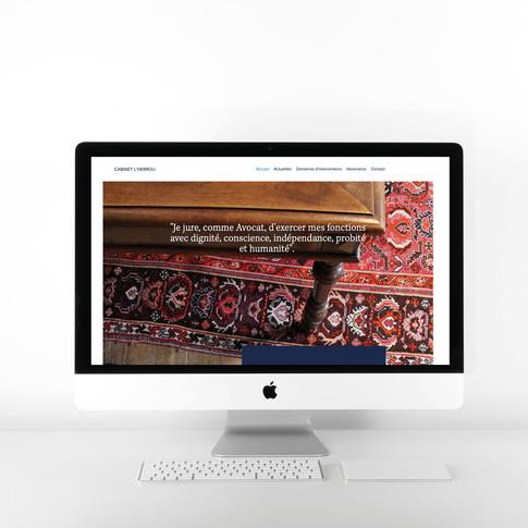 Réalisation du site internet du Cabinet d'avocat L'Herrou à St-Pol-de-léon, Landivisiau, Brest. Photos du cabinet réalisées par Roskocom.