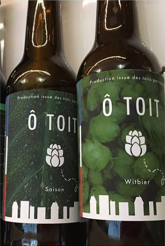 Conception des étiquettes des premières bières  de Cueillette Urbaine Paris, Roskocom