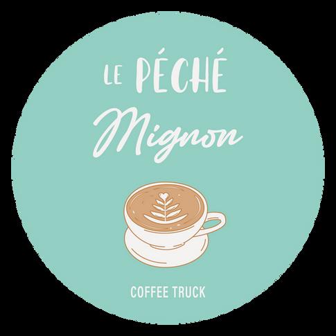 Conception du logo du Coffee truck Le Péché Mignon à Morlaix, Roskocom
