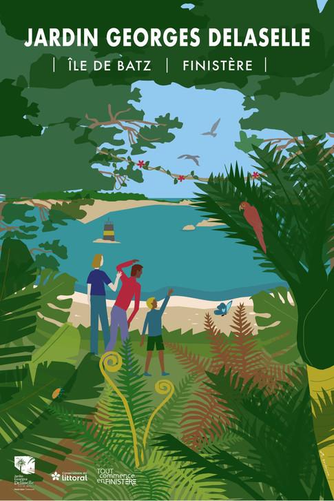 Affiche saison 2021 Jardin Georges Delaselle Ile de Batz