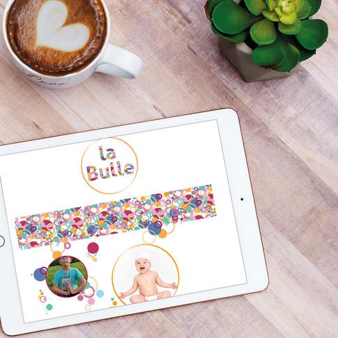 Réalisation du site internet La Bulle - activités bébé et enfant