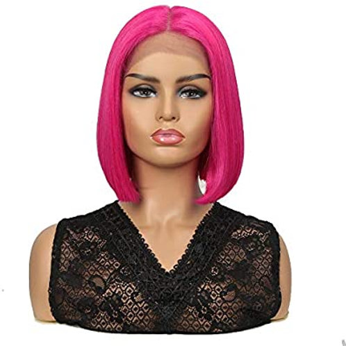 HOT PINK LACE FRONT WIG