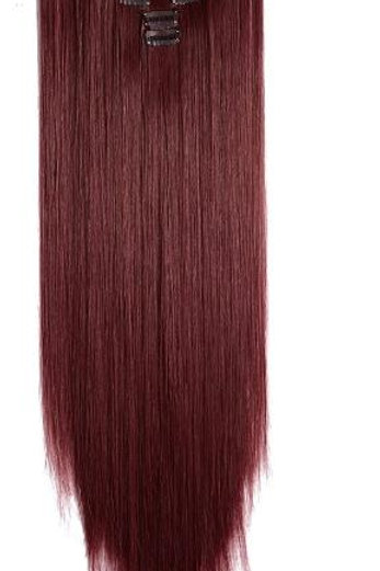 """22"""" BURGUNDY CLIP IN EXTENSIONS"""