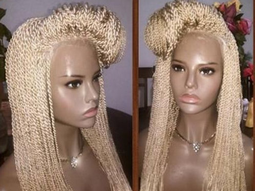 Senegalese Twist Lace Wig Brazilian Synthetic Braided Wig