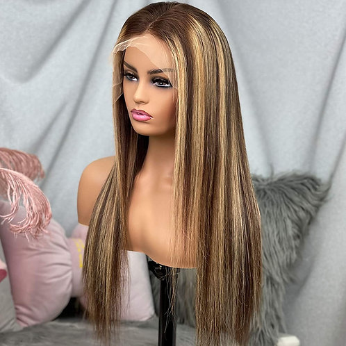 OMBRE HIGHLIGHTS LACE FRONT WIG