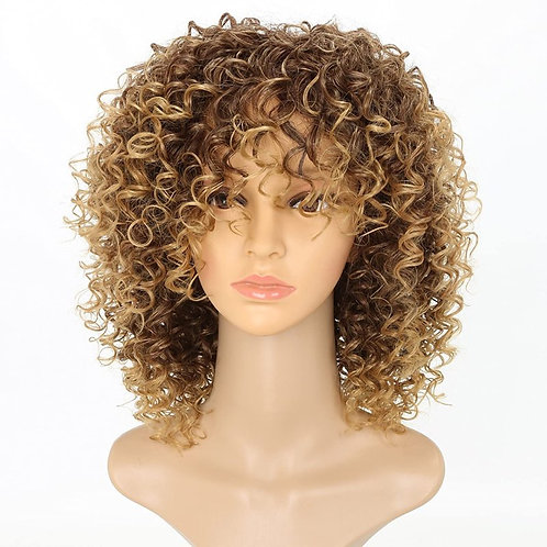 CURLY OMBRE GOLDEN BLOND AFRO WIG