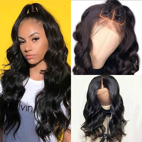 26' LONG BODY WAVE LACE F RONT WIG