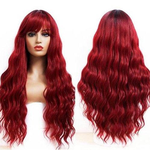 LONG WAVY HAIR WIG w/ BANGS- SYNTHETIC