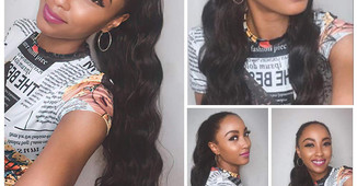 Fake Hair,  Dont Care!  20  Real Girls and Women Try The Long Wavy Ponytail.