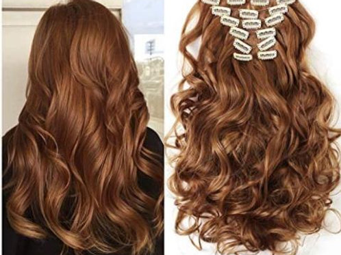"""20""""BODY WAVE AUBURN CLIP IN EXTENSIONS"""