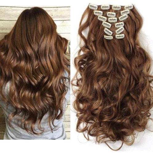 LIGHT BROWN CLIP IN EXTENSIONS