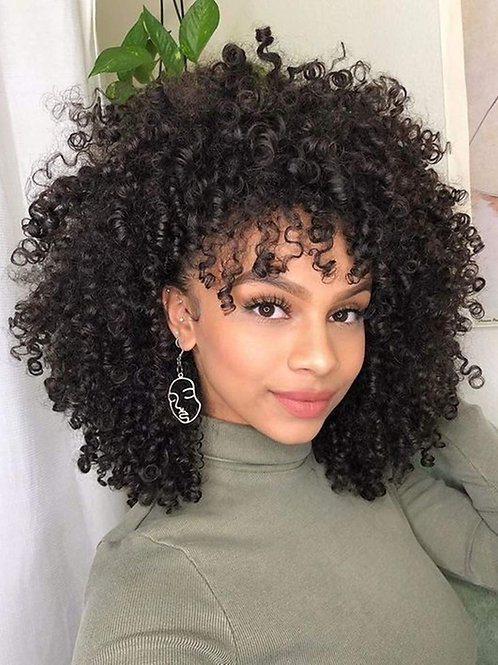 "14"" KINKY AFRICAN AMERICAN CURLY AFRO WIG"