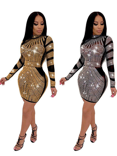 HOT DIAMOND LONG SLEEVE DRESS