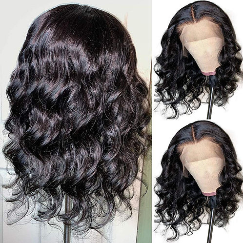 "16"" Black 1B Wavy Lace Front Wig  - Synthetic"