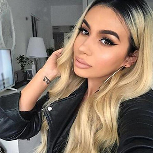 """28"""" BLONDE WAVY LACE FRONT WIG"""