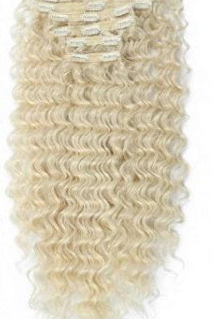 Deep Wave Clip In Extensions - Blonde 613