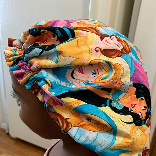 Princess Baby to Adult Sized Satin Bonnet; Princess Satin Bonnet, Baby Satin Bon
