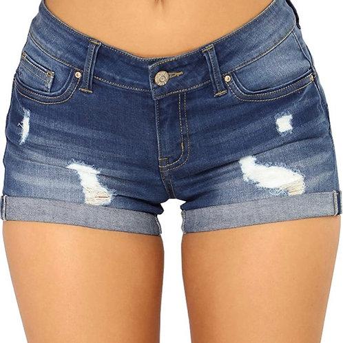 Dark Blue Denim Jean Shorts