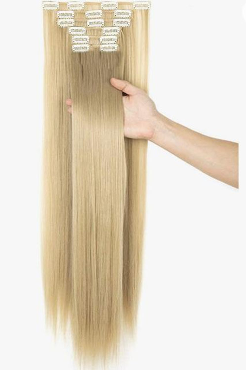 """26 """"LONG BLONDE CLIP IN EXTENSIONS"""