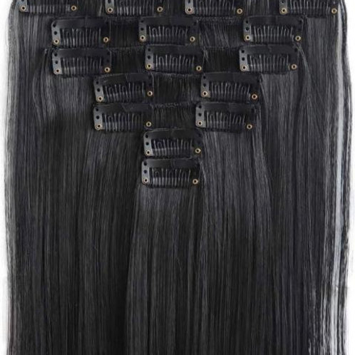 """22"""" BLACK CLIP IN EXTENSIONS"""