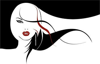 vector_girls_with_long_hair_flowing_1541